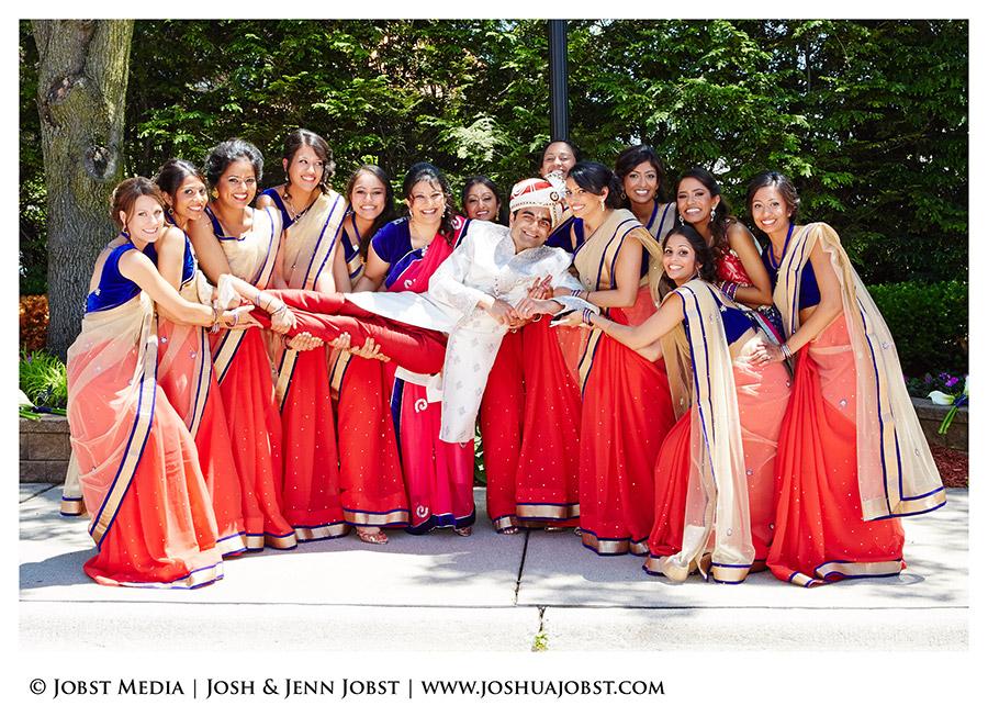 fun indian bridesmaids with sunglasses shot