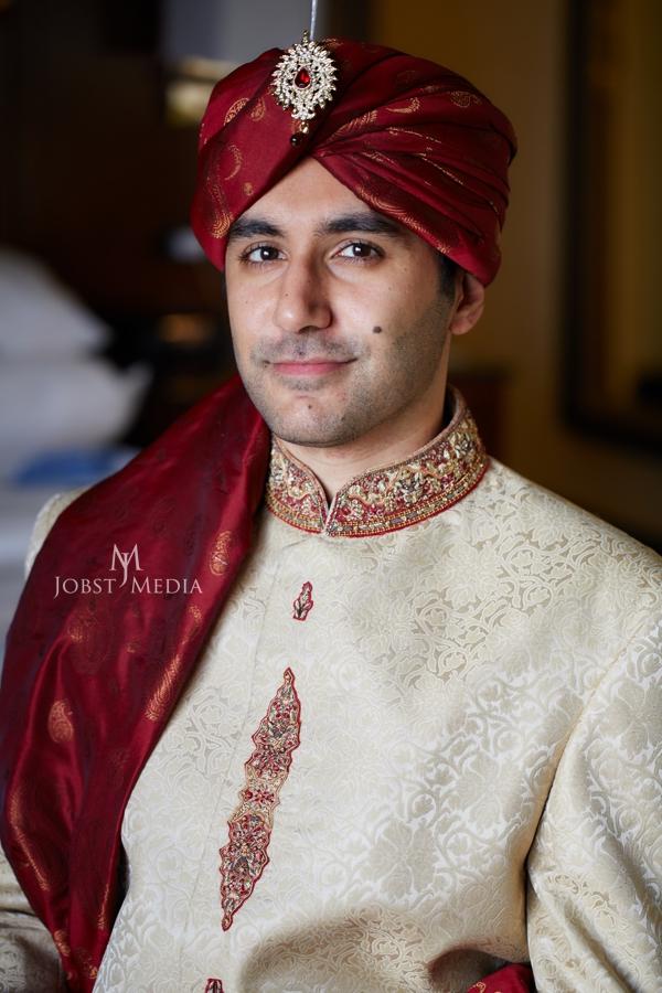 Indian Wedding Photo Shoot Chicago groom looking stunning