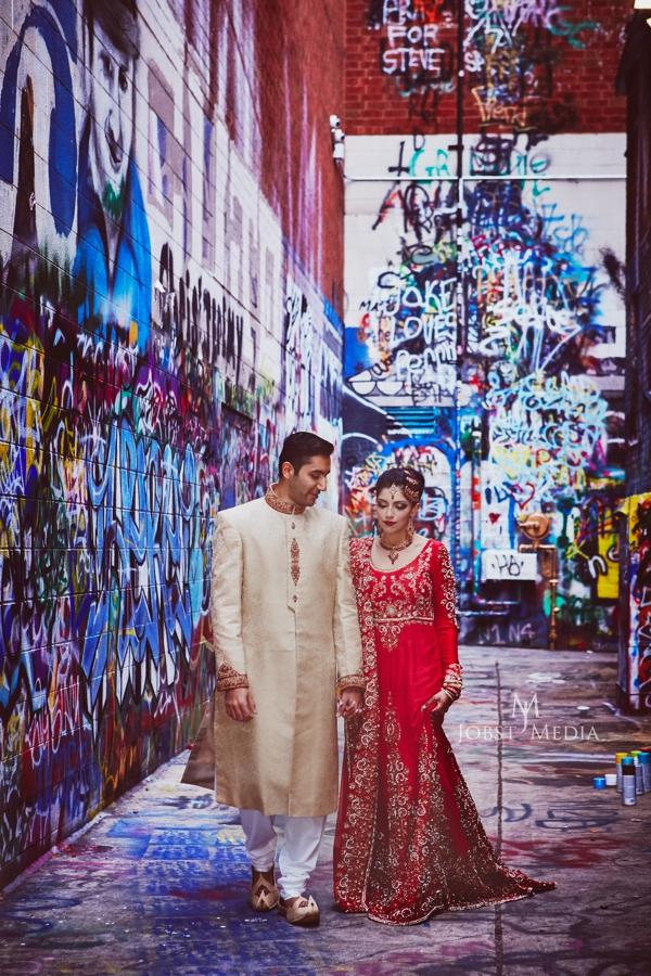 Indian Wedding Photos Chicago beautiful graffati shot angle shot with wide angle